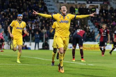 El Juventus de Guillermo Cuadrado ganó 1-0 ante el Cagliari
