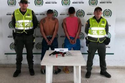 Capturados dos hombres que asaltaron un camión de gaseosa en Bucaramanga