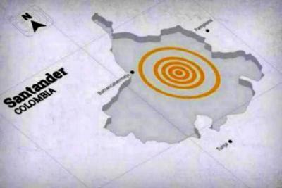 Fuerte sismo sacudió a Bucaramanga este lunes