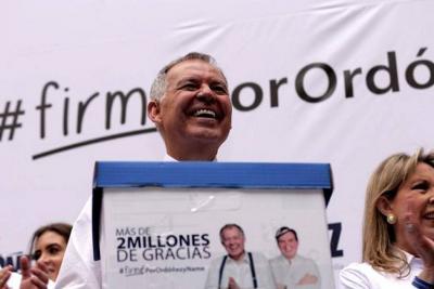 Estas son las dudas de Ordóñez para unirse a la Coalición