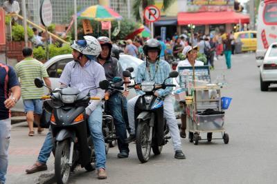 Girón es la tercera ciudad del país con más motocicletas matriculadas