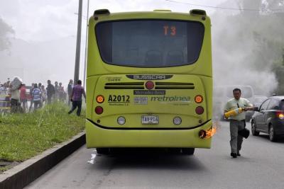 ¿Qué tan deteriorados están los buses de Metrolínea que circulan en Bucaramanga y el área?