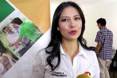 """Ángela Hernández encabezó la protesta en contra de la """"ideología de género"""", que según ella se iba a implantar en los colegios del país, como consecuencia del proceso de paz."""