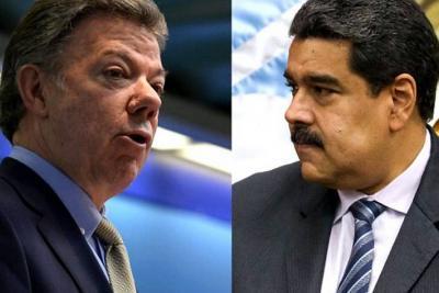 """Santos le dice a Maduro que no use a Colombia para tapar su """"revolución fracasada"""""""