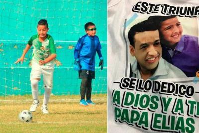 Hijo de Martín Elías dedicó goles a su papá