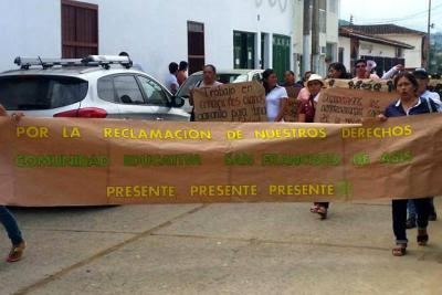 Rectora en Charalá será retirada temporalmente de su cargo