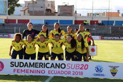 Selección Colombia femenina goleó 9-0 a Perú en el Suramericano