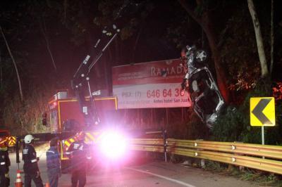 Posible pérdida de control del vehículo ocasionó accidente fatal en Girón