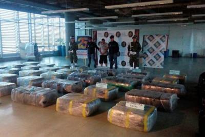 Autoridades incautan una tonelada de marihuana en Medellín