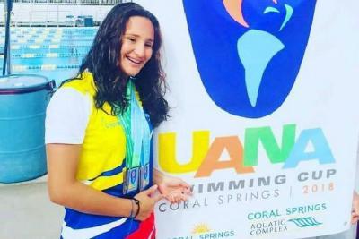 Una santandereana fue figura de Colombia en Copa de las Américas de natación