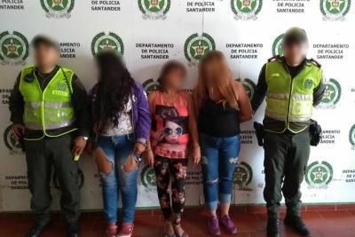 Tres trabajadoras sexuales fueron capturadas por tráfico y fabricación de estupefacientes