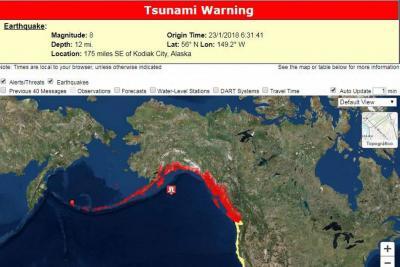 Terremoto de 8,2 grados en Alaska generó alerta de tsunami en el Pacífico