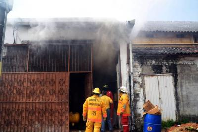 Incendio paralizó zona comercial de Barrancabermeja