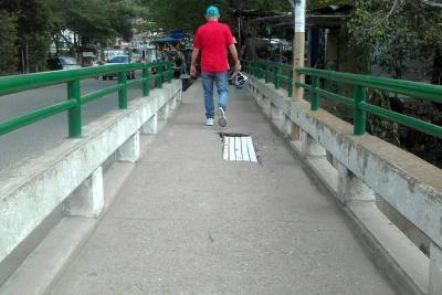 Dos puentes en mal estado necesitan pronta intervención en Girón