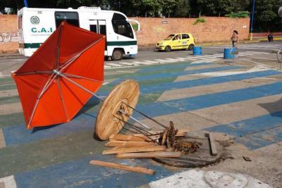 Urbanismo táctico de Bucaramanga está ¡...en el piso!