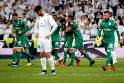 Real Madrid fue eliminado de la Copa del Rey por el Leganés