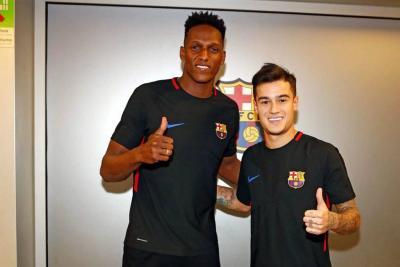 Yerry Mina fue convocado para el partido de este jueves ante el Espanyol