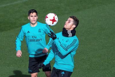 Cristiano Ronaldo volvió a entrenar tras el corte que sufrió el rostro