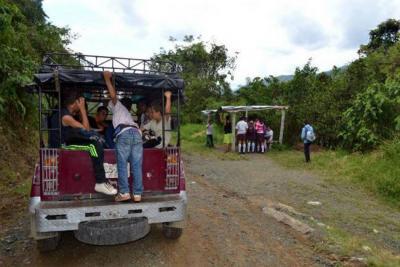 En Socorro, todavía no hay transporte escolar