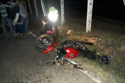 Conductor de moto falleció tras choque en la Mesa de Los Santos
