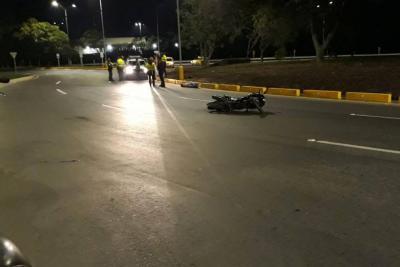 Motorizado perdió la vida en el Anillo Vial