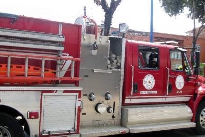 Dirección de Tránsito de Bucaramanga inmovilizó máquina de bomberos