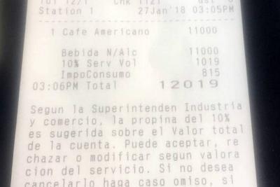 En un hotel en Cartagena cobraron $12.000 por un tinto
