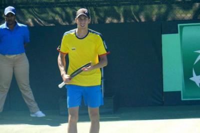 El santandereano Daniel Galán ganó el primer punto para Colombia en Copa Davis