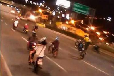 'Acrobacias' en moto ahora son cometidas en Autopista a Bucaramanga