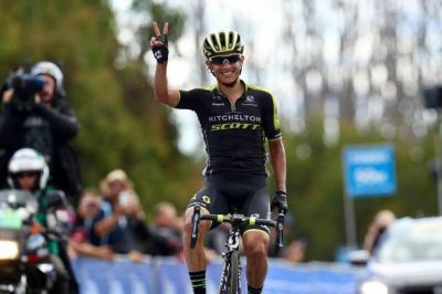 Esteban Chaves es líder del Herald Sun Tour en Australia