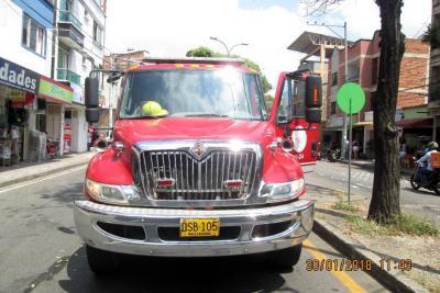 Por fin salió de los patios de Tránsito la máquina de Bomberos de Bucaramanga