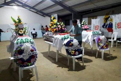 En una ceremonia Fiscalía entregó restos de miembros de Farc asesinados por el Eln