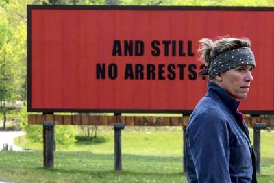 La película 'Tres anuncios por un crímen' arrasa en los Premios BAFTA
