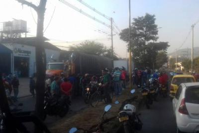 Motociclista murió en accidente de tránsito en la vía entre Girón y Bucaramanga
