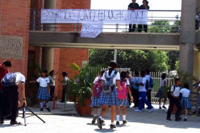 Estudiantes de Barrancabermeja se tomaron la institución como protesta
