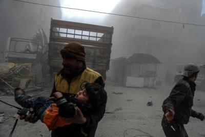 UE pide un alto el fuego en Guta Oriental, Siria