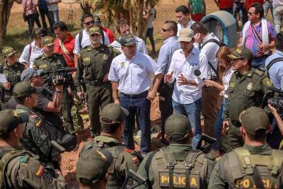 Pie de fuerza en sur de Bolívar será redoblado