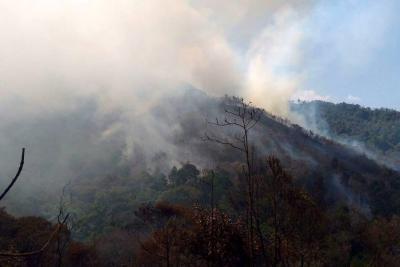 Piedecuesta, en alerta roja por cuenta de incendios forestales