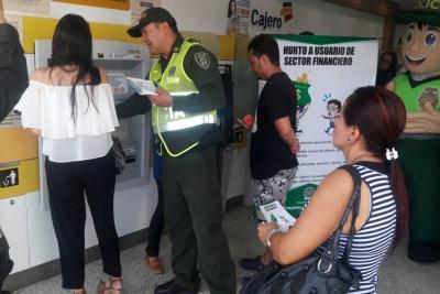 En 2017 se reportaron 15 hurtos y fleteos en sector bancario de Floridablanca