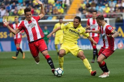 El Girona se impuso 2-0 ante el Villarreal de Carlos Bacca