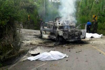 Dos policías muertos tras ataque armado en Cauca