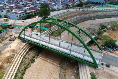 Puente San Jorge en sur de Girón será estrenado a finales de marzo
