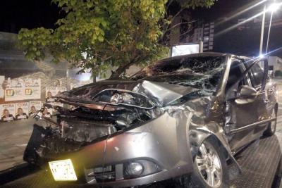 Choque de dos vehículos dejó dos personas heridas en Bucaramanga