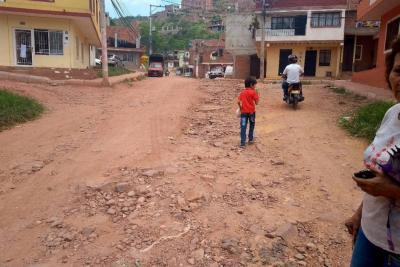En Los Cedros urgen obras para recuperar la malla vial