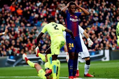 Por nacimiento del hijo de Messi, Yerry Mina fue convocado por el Barcelona