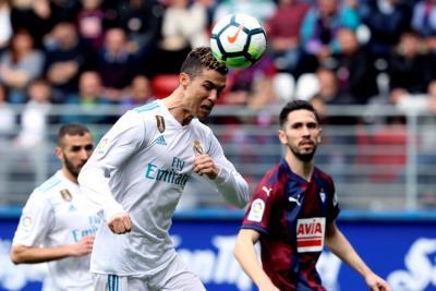 Con dos goles de Cristiano Ronaldo el Real Madrid venció al Eibar