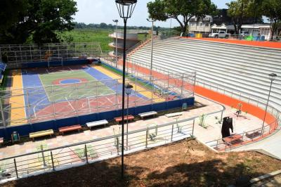 Listas las obras en la cancha polideportiva Blanca Durán