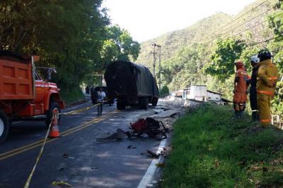 Accidente en la vía Bucaramanga – San Gil dejó dos personas muertas