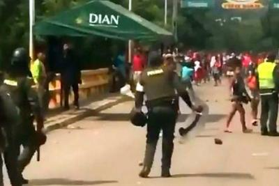 Indígenas Yukpa atacaron con piedras a policías en frontera de Cúcuta