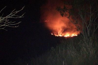 Incendio forestal consumió varias hectáreas de bosque entre Girón y Piedecuesta